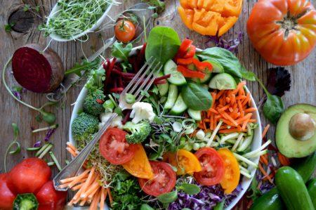сочетания овощей в салатах фото
